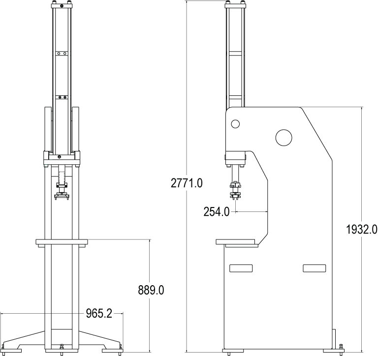 Air-Over-Oil Press Frame